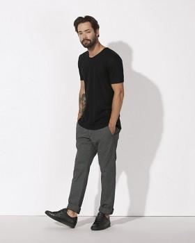 STANLEY ENJOYS LINEN Pánské tričko s krátkým rukávem ze 100% lnu - černá