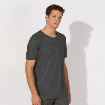 STANLEY ENJOYS LINEN Pánské tričko s krátkým rukávem ze 100% lnu - šedá