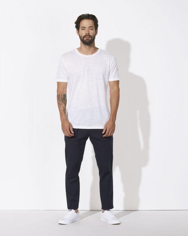STANLEY ENJOYS LINEN Pánské tričko s krátkým rukávem ze 100% lnu - bílá 8b4a7cccfd
