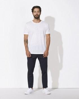 STANLEY ENJOYS LINEN Pánské tričko s krátkým rukávem ze 100% lnu - bílá