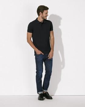 STANLEY PERFORMS Pánské polo tričko s krátkými rukávy ze 100% biobavlny - černá
