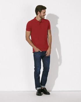 STANLEY PERFORMS Pánské polo tričko s krátkými rukávy ze 100% biobavlny - červená