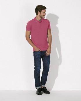 STANLEY PERFORMS Pánské polo tričko s krátkými rukávy ze 100% biobavlny - růžová camelia
