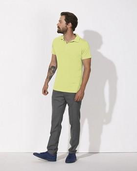 STANLEY TRAINS MODAL Pánské polo tričko s krátkými rukávy z biobavlny a modalu - žlutá sunny lime