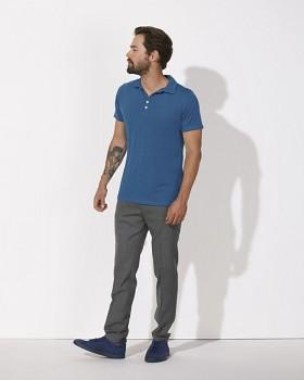 STANLEY TRAINS MODAL Pánské polo tričko s krátkými rukávy z biobavlny a modalu - modrá royal