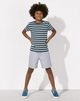 MINI STANLEY STRIPES Chlapecké pruhované tričko s krátkými rukávy ze 100% biobavlny - šedá stargazer