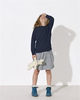 MINI SCOUT Dětská unisex mikina z biobavlny - tmavě modrá navy