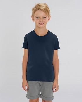 MINI STANLEY PAINTS Chlapecké tričko s krátkými rukávy ze 100% biobavlny - tmavě modrá navy