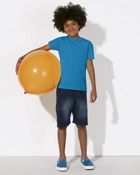 MINI STANLEY PAINTS Chlapecké tričko s krátkými rukávy ze 100% biobavlny - modrá azur
