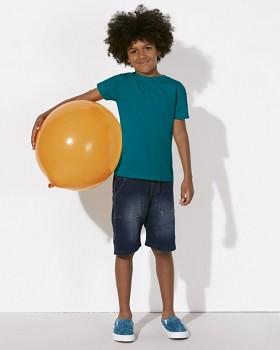 MINI STANLEY PAINTS Chlapecké tričko s krátkými rukávy ze 100% biobavlny - modrozelená ocean depth