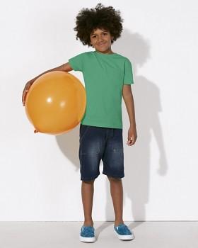 MINI STANLEY PAINTS Chlapecké tričko s krátkými rukávy ze 100% biobavlny - zelená vivid
