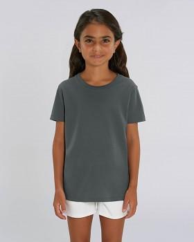 MINI CREATOR dětské tričko s krátkými rukávy ze 100% biobavlny - šedá antracit
