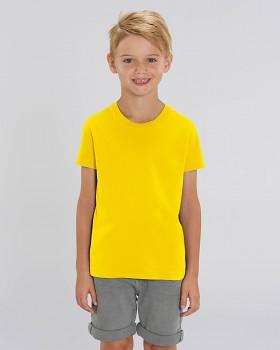 MINI CREATOR dětské tričko s krátkými rukávy ze 100% biobavlny - žlutá golden