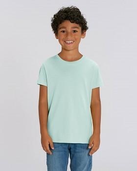 MINI CREATOR dětské tričko s krátkými rukávy ze 100% biobavlny - modrá caribean