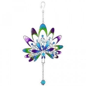 PEACOCK fair trade závěsná vitrážová dekorace