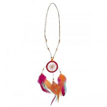 DREAMCATCHER náhrdelník s motivem lapače snů - červená