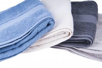 BIO ručník ze 100% biobavlny 50 x 100 cm - modrá, šedá, přírodní, béžová