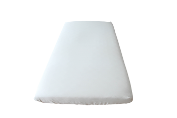 Dětské BIO napínací prostěradlo ze 100% biobavlny (plátno)  - bílá natural