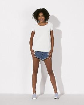 STELLA LOVES/LOVER Dámské tričko ze 100% biobavlny - bílá