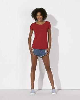 STELLA LOVES Dámské tričko ze 100% biobavlny -červená