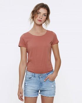 STELLA LOVES Dámské tričko ze 100% biobavlny - růžová salty rose