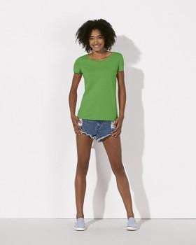 STELLA LOVES Dámské tričko ze 100% biobavlny - zelená