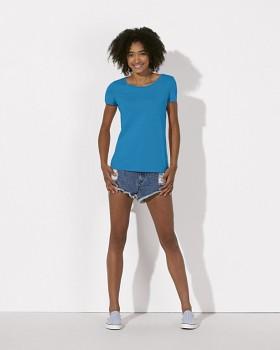 STELLA LOVES Dámské tričko ze 100% biobavlny - modrá azur