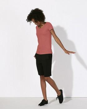 STELLA LOVES Dámské tričko ze 100% biobavlny - červená mid heather