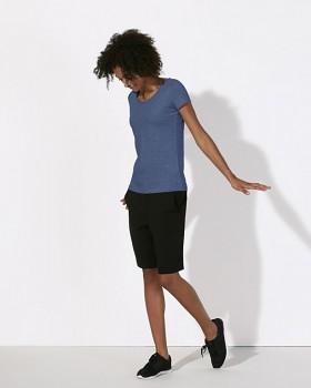 STELLA LOVES Dámské tričko ze 100% biobavlny - modrá indigo dark heather