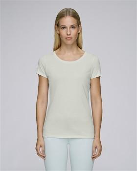 STELLA LOVES Dámské tričko ze 100% biobavlny - světle šedá light opaline