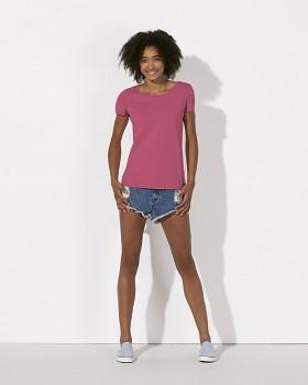 STELLA LOVES Dámské tričko ze 100% biobavlny - růžová camelia