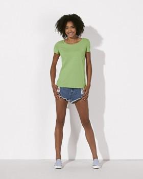 STELLA LOVES Dámské tričko ze 100% biobavlny - světle zelená paradise