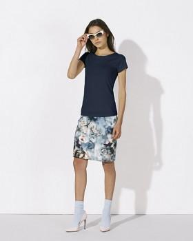 STELLA WANTS Dámské tričko s kulatým výstřihem ze 100% biobavlny - tmavě modrá navy