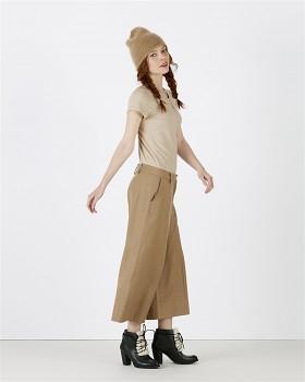 STELLA WANTS Dámské tričko s kulatým výstřihem ze 100% biobavlny - béžová mid heather beige