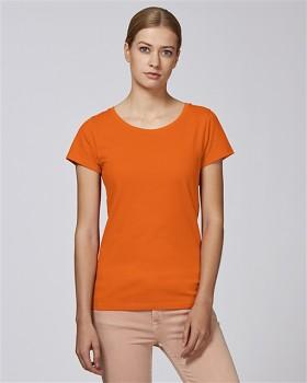 STELLA WANTS Dámské tričko s kulatým výstřihem ze 100% biobavlny - oranžová