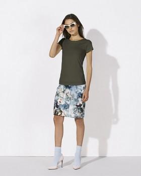 STELLA WANTS Dámské tričko s kulatým výstřihem ze 100% biobavlny - khaki