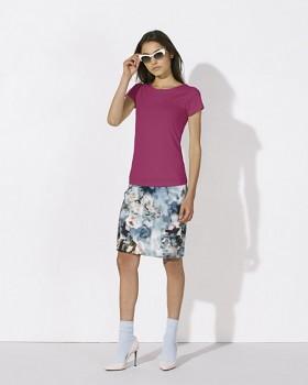 STELLA WANTS Dámské tričko s kulatým výstřihem ze 100% biobavlny - malinová