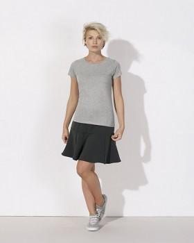STELLA WANTS Dámské tričko s kulatým výstřihem ze 100% biobavlny - šedá heather