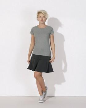 STELLA WANTS Dámské tričko s kulatým výstřihem ze 100% biobavlny - šedá mid heather grey melange