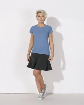 STELLA WANTS Dámské tričko s kulatým výstřihem ze 100% biobavlny - modrá mid heather