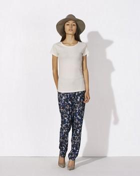 STELLA WANTS Dámské tričko s kulatým výstřihem ze 100% biobavlny - světle šedá cream heather