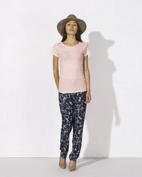 STELLA WANTS Dámské tričko s kulatým výstřihem ze 100% biobavlny - růžová cream heather