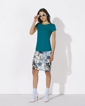 STELLA WANTS Dámské tričko s kulatým výstřihem ze 100% biobavlny - modrá ocean depth