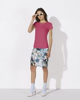 STELLA WANTS Dámské tričko s kulatým výstřihem ze 100% biobavlny - růžová camelia