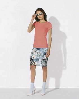 STELLA WANTS Dámské tričko s kulatým výstřihem ze 100% biobavlny - růžová flamingo