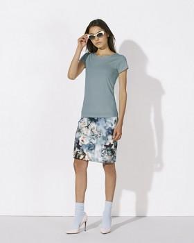 STELLA WANTS Dámské tričko s kulatým výstřihem ze 100% biobavlny - modrá citadel