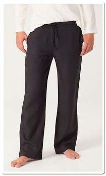 Hempline unisex kalhoty ze 100% konopí - černá