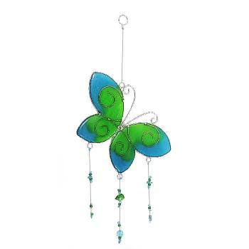 GREEN FLY fair trade závěsná vitrážová dekorace