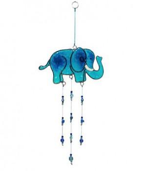 GREEN ELEPHANT fair trade závěsná vitrážová dekorace