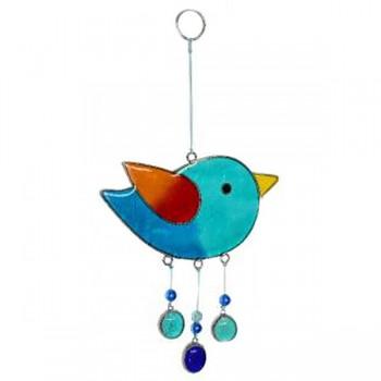 BIRD fair trade závěsná vitrážová dekorace
